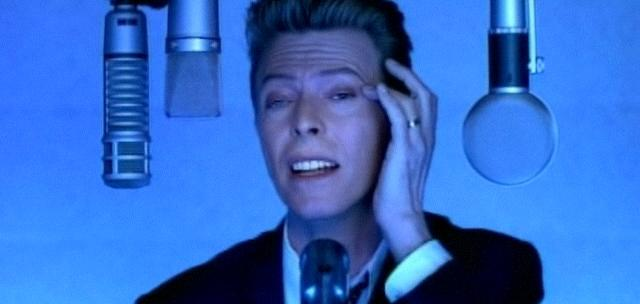 Bowie in a still from his clip 'Jump, They Say' (1993)