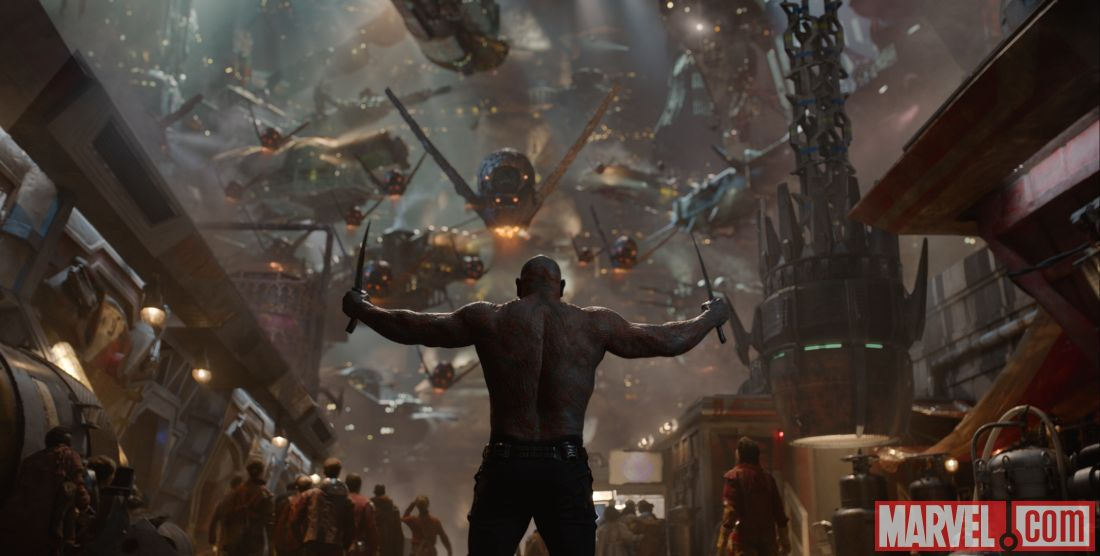 David Bautista playing Drax the Destroyer in Marvel's 'Guardians of the Galaxy' (image: Marvel)