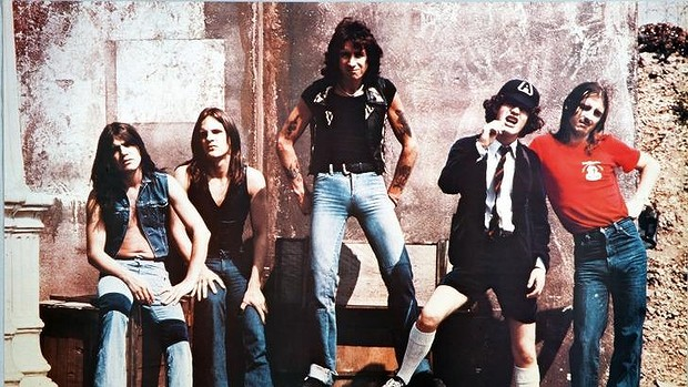 ACDC in their younger days, with Bon Scott front and center (image: ACDC.com)