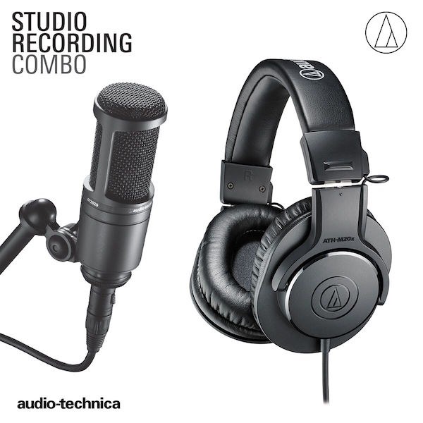 audio-technica recording package at2020 ath-m20x