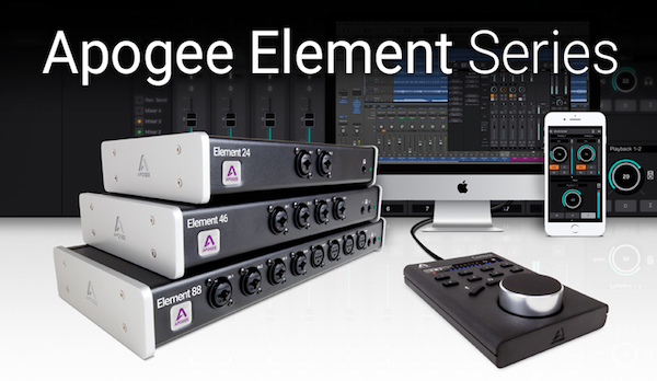 apogee releases software update for element series thunderbolt interfaces