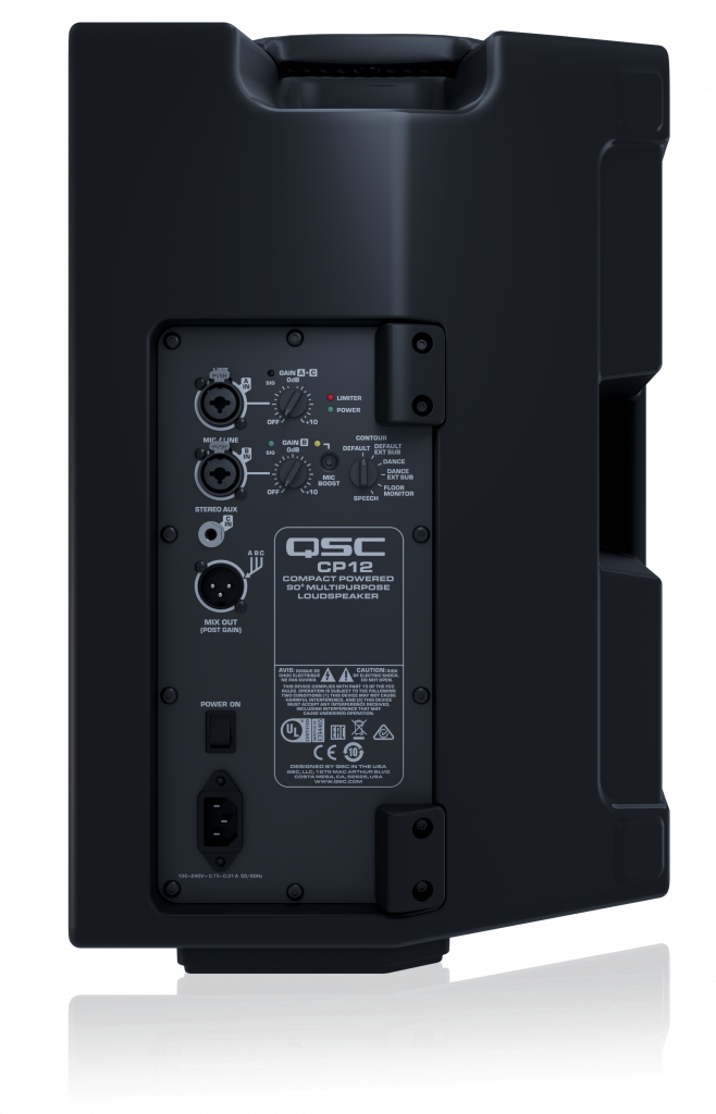QSC CP12 Rear