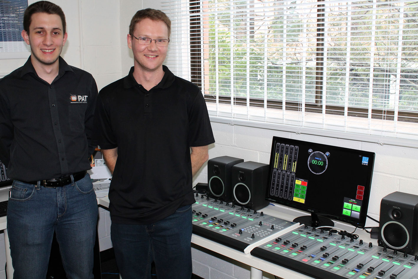 Pic left to right: Nick Brown (PAT) and system integrator Josh Parkinson (image: supplied).
