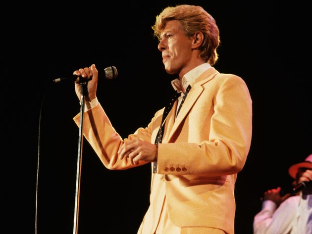 Bowie performing on his 'Glass Spider' tour (1987)