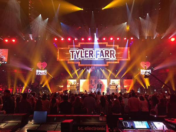jbl vtx line array at iheart country radio