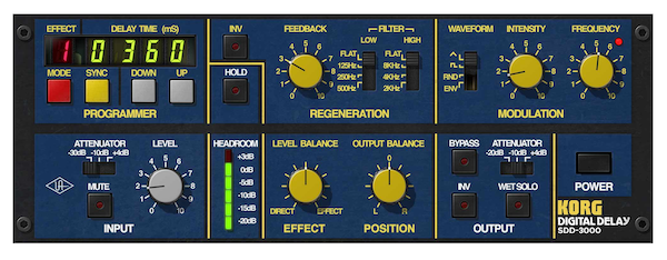 korg SDD-3000 Digital Delay plug-in