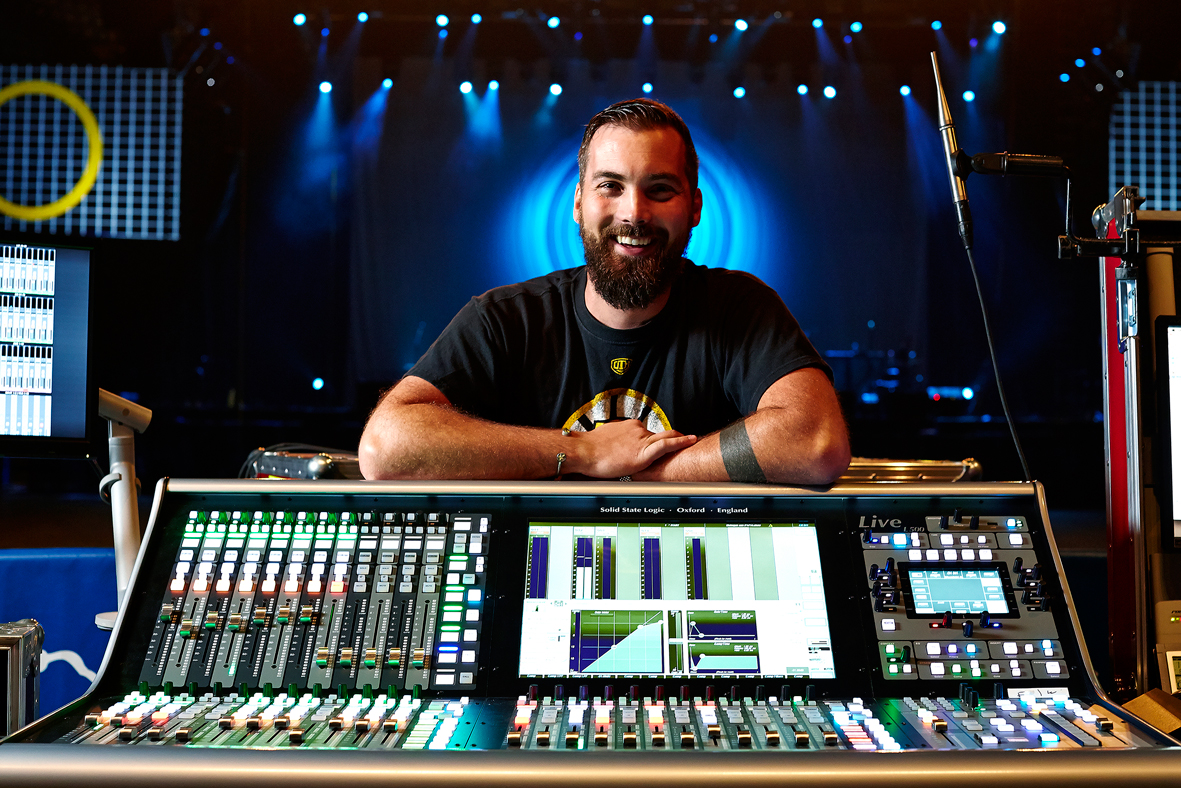Kenny Kaiser FOH engineer for The Killers