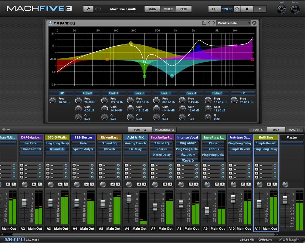 MachFive 3 mixer