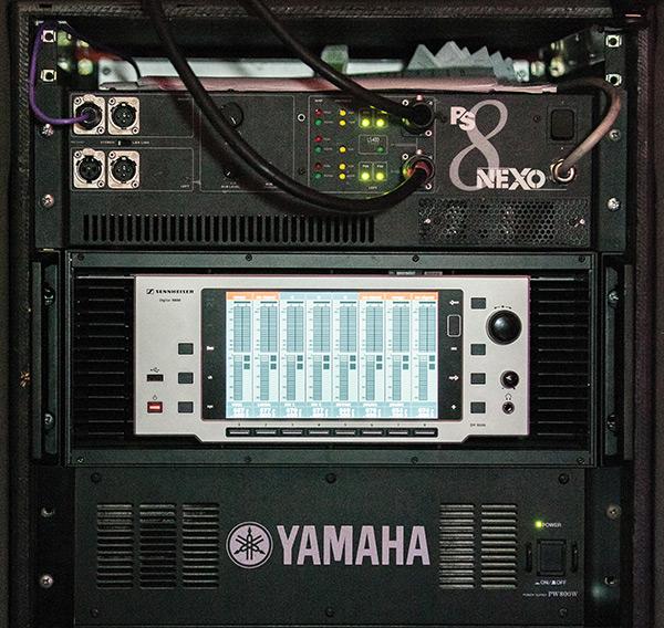 The impressive interface of the Sennheiser SKM9000 wireless system.