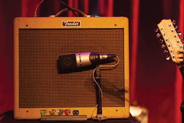 Another new addition to Millikan's mic arsenal is the Sennehiser MK8 condenser on guitar cabs.
