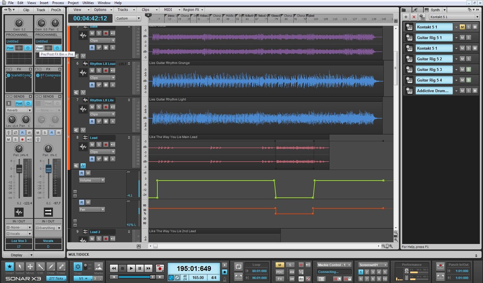 Sonar X3 Full Screen GUI