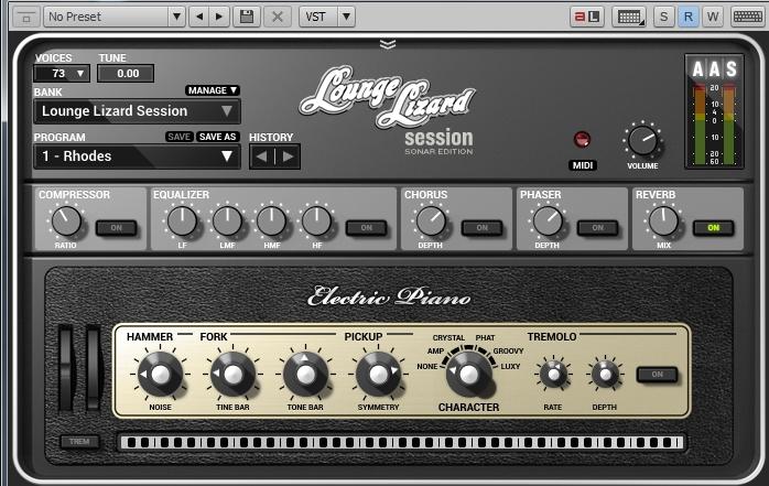 Sonar X3 Lounge Lizard