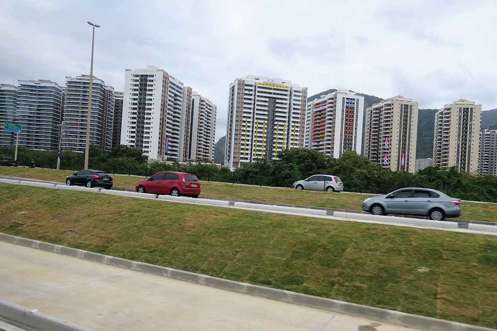 View of Team Australia's accommodation in the athlete's village.