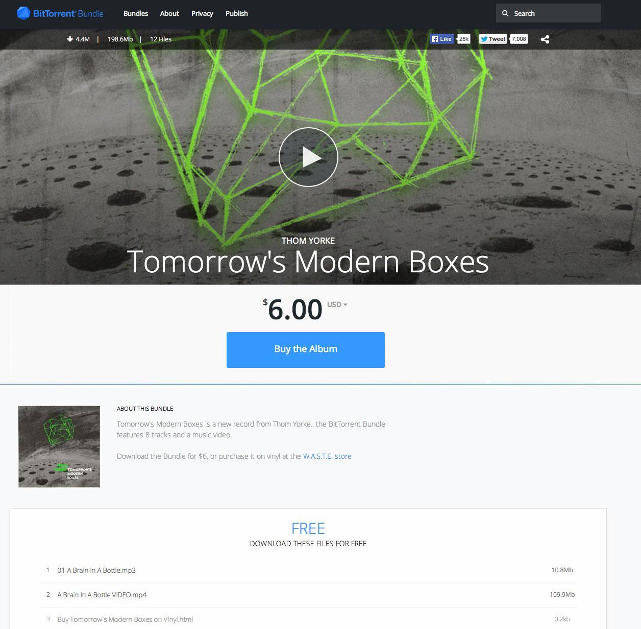 Tomorrow s Modern Boxes BitTorrent Bundle