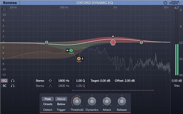 Sonnox Oxford Dynamic EQ plug-in