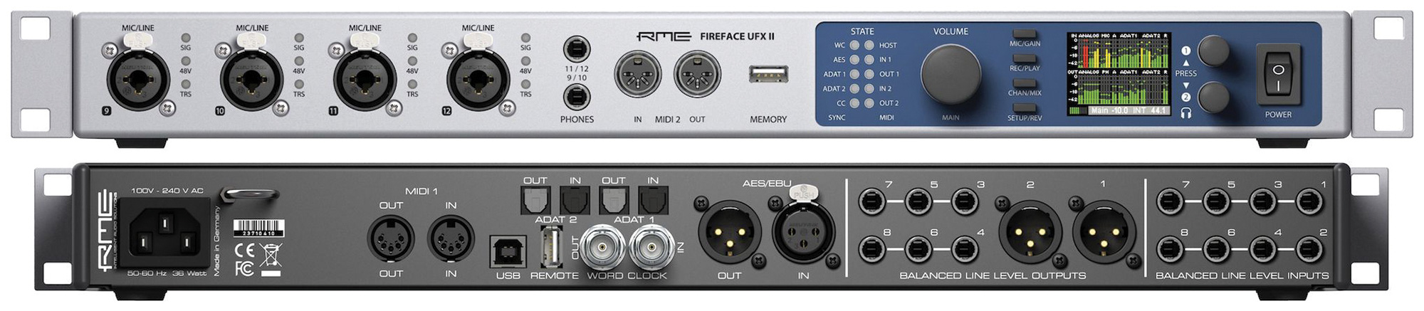 RME FIREFACE UFX II & UFX+ AUDIO INTERFACES - AudioTechnology