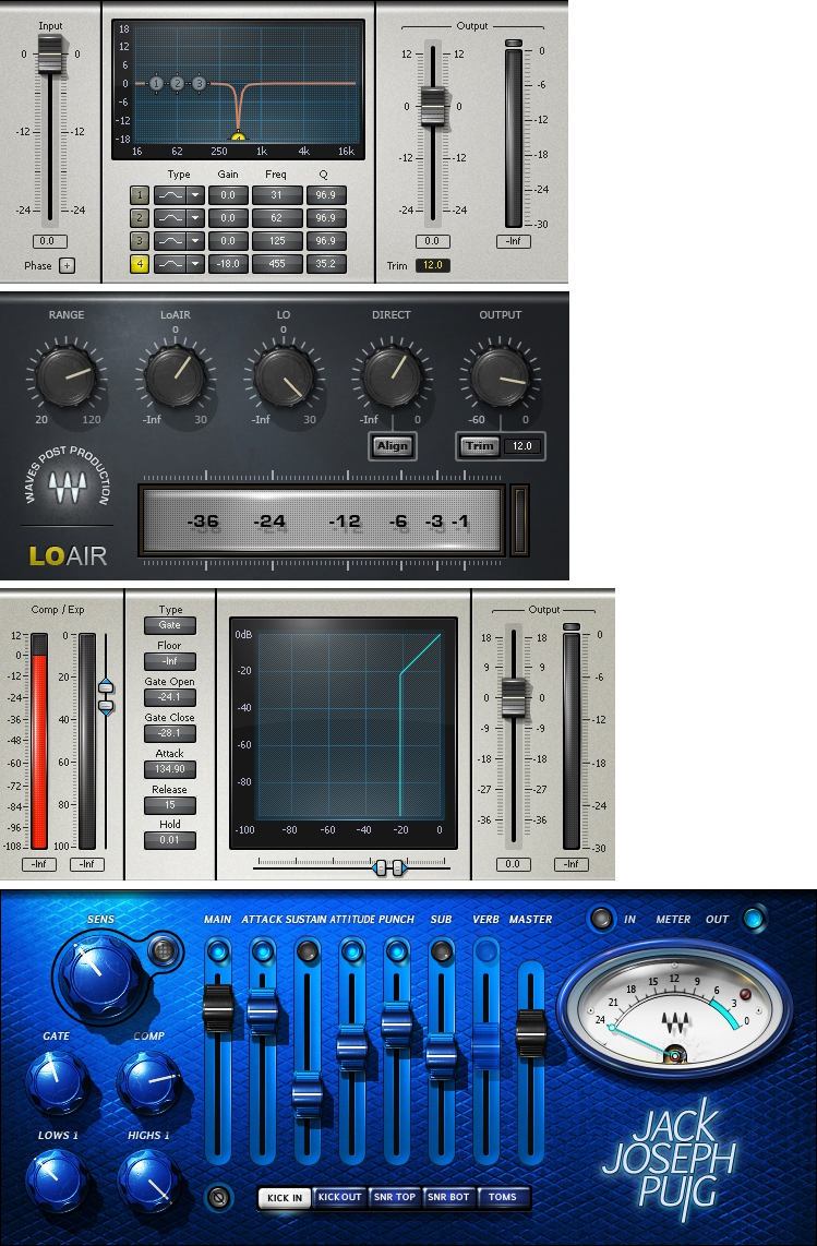 """""""The straight kick drum had the Waves Jack Joseph Puig drums plug-in, while the Kick sub had the Waves Q10 EQ and Waves LoAir for some more sub, plus the Waves C1 gate."""""""