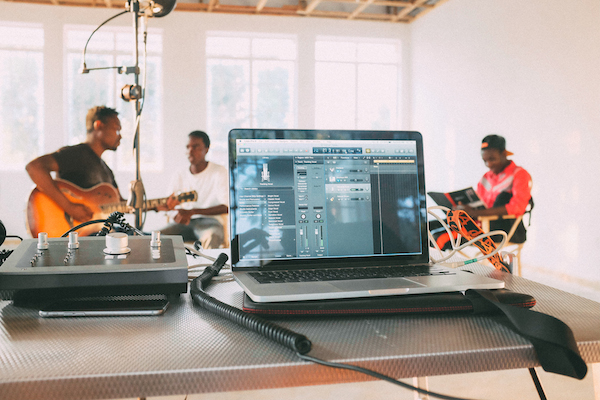 recording setup with audient in malawi