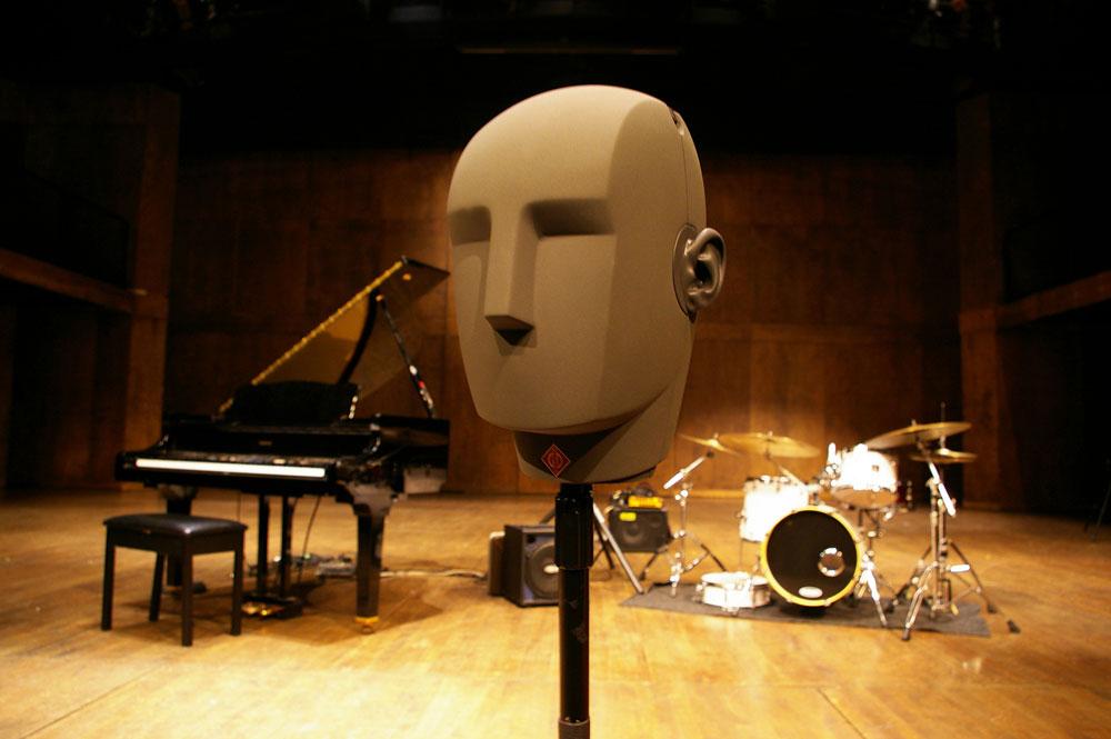'Fritz', Kall Binaural Audio's Neumann KU-100 dummy head microphone.
