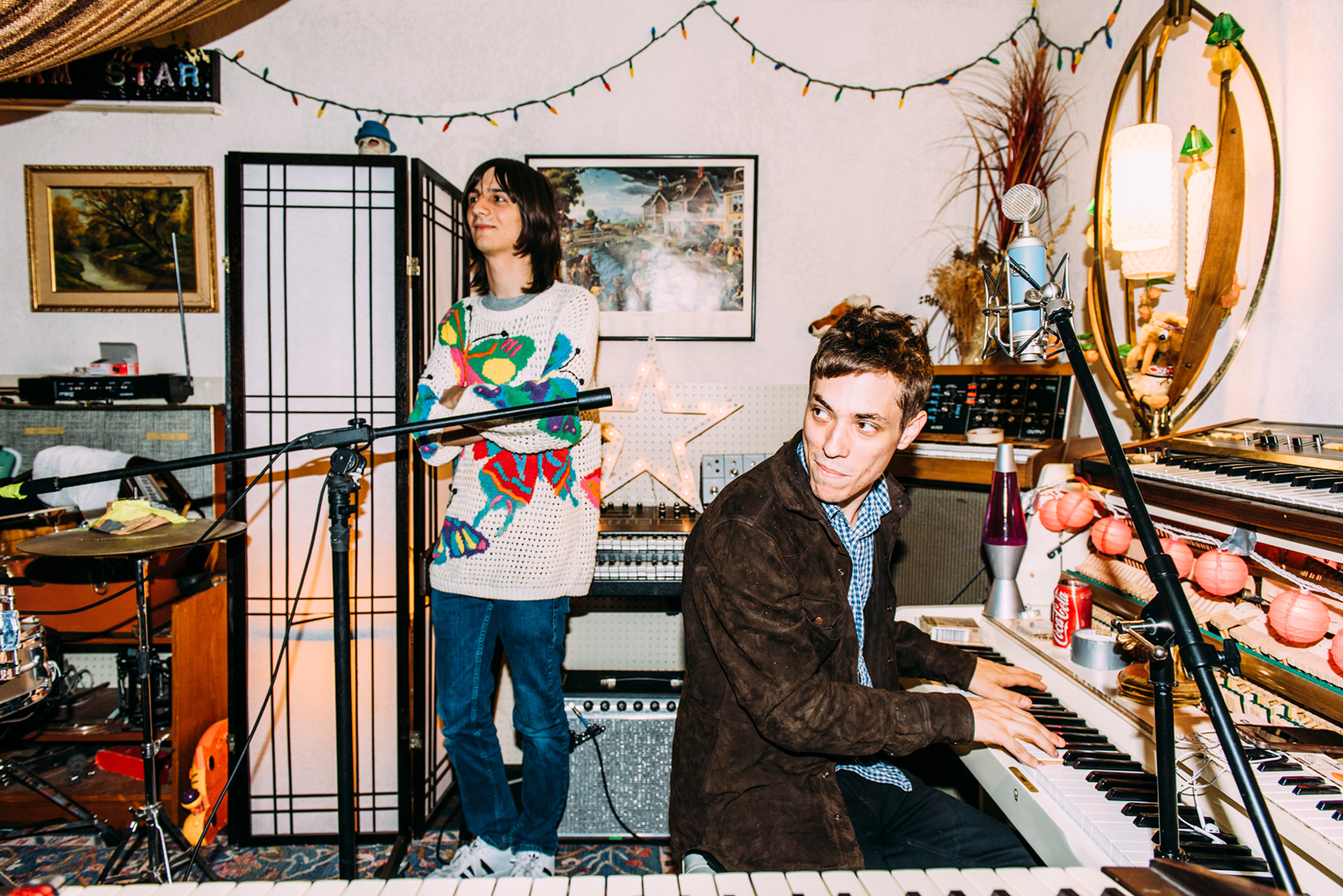 "Foxygen's Jonathan Rado (below) has a 'basic' tape-based studio called Dreamstar: ""I have a Tascam MSR-16 16-track, an old Tascam 288 eight-track, and I recently got a Tascam 24-track. The Lemon Twigs record was done on the 16-track, which is a half-inch machine. I also have a 32-channel Yamaha desk, and a 16-channel Tascam M2516 mixer that we used for monitoring."""