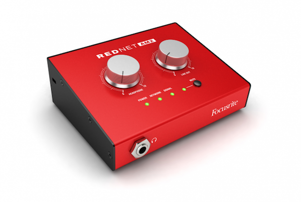 focusrite rednet am2 dante monitoring