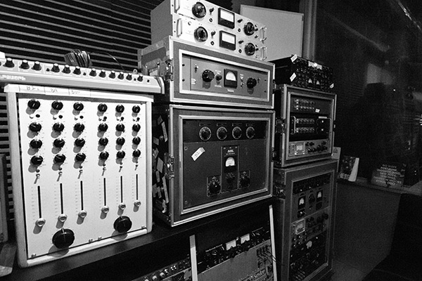Just some of the highlights from these racks; an original Gates Sta-Level, Altec tube compressors, WSW 601431A compressor, and a rack of Quad Eight MM-312 preamps.