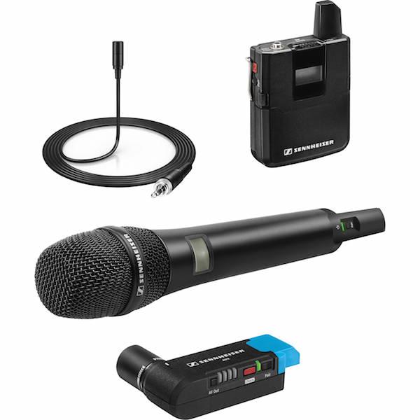sennheiser avx system with mke lapel mic handheld transmitter