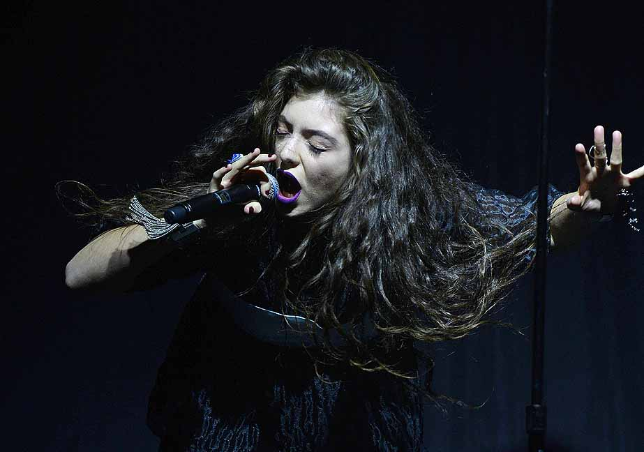 MELBOURNE, AUSTRALIA - 15TH JULY 2014;Ella Marija Lani Yelich-O'Connor (Lorde) performs on stage at Festival Hall on the 15th of July 2014 in Melbourne Australia. (Photo by Martin Philbey)