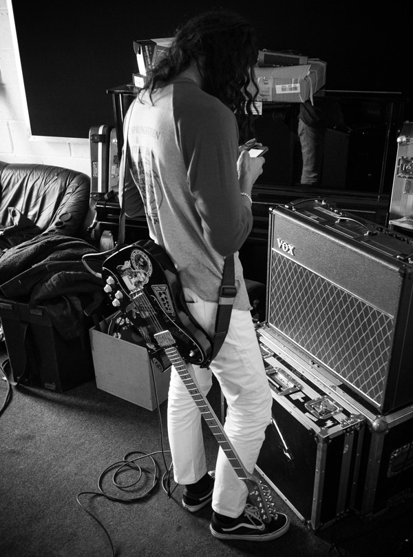 """VOCALS Russell: """"When Dougy was tracking guide vocals with the band he used a Shure SM7 — the same mic he used on the entire Conditions album — into an API pre feeding the Summit. All the vocals were overdubbed using the Neumann UM57. Singing into a valve condenser was new for him. The mic has the original M7 capsule of the U47 with different electronics. That went into a BAE 1073 preamp and 1176 compressor."""""""