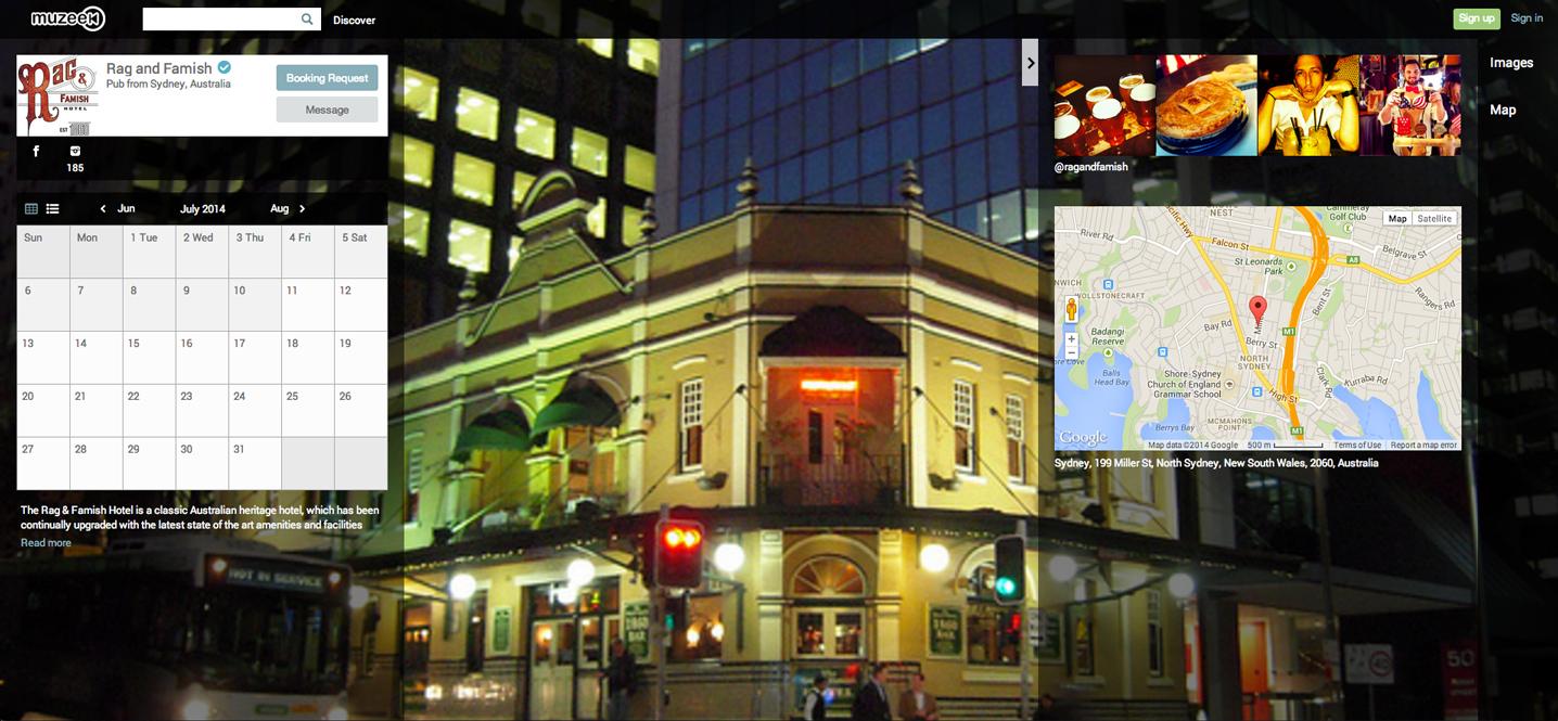 Sydney Pub, Rag & Famish's profile on Muzeek.