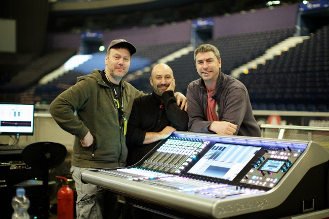 Peter Gabriel's FOH team