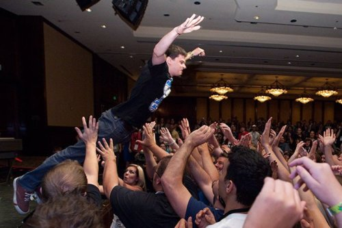 A picture taken of George Watsky at VidCon 2012 by author John Green, himself a Youtube sensation (image: John Green)
