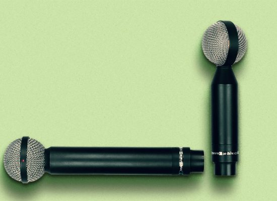 BeyerDynamic's M160 hypercardioid and M130 bidirectional ribbon mics with pleated ribbons.