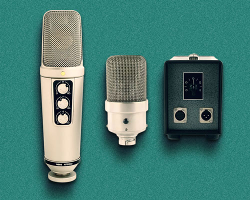 Røde's NT2000 and Neumann's vintage M49, both with continuously variable polar responses.